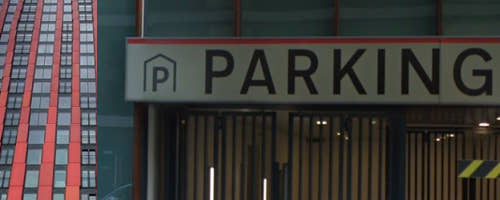 Parkeergarage red apple Rotterdam
